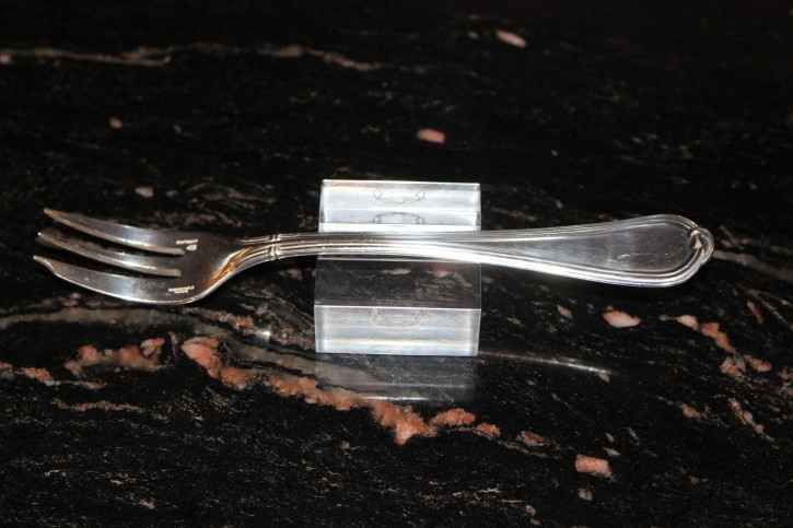 Alte Christofle Oceana Kuchen Gabel / Fork aus 925er Silber ca. 16cm & 44 Gramm