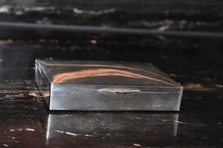 Alter Schmuckdose Box Zigarettendose 925er Sterling Silber ca. 14 x 10 cm & 280g