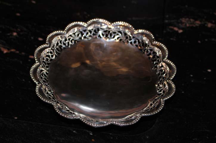 Antike Silberschale Schale 800er Silber mit Durchbruchdekor ca. 20 x 5cm & 220 g