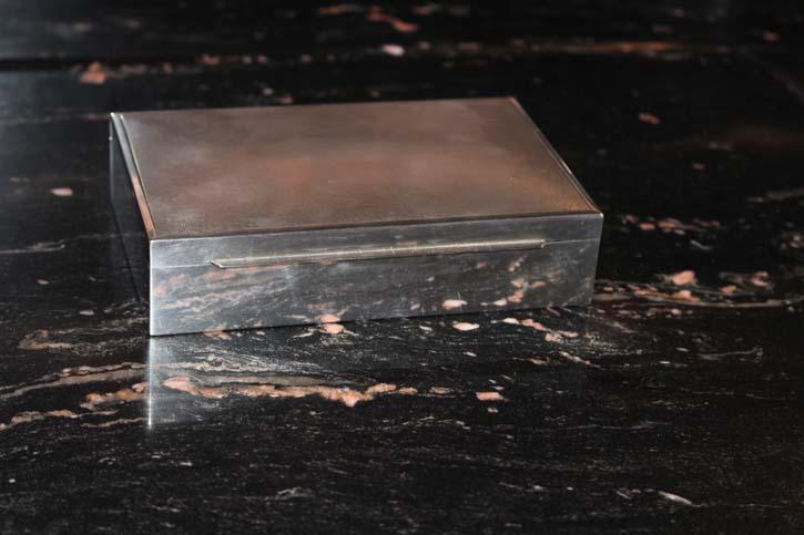 Antike Zigarren Box Zigarettendose 925er Silber ca. 15 x 10 x 3,5cm & 300 Gramm