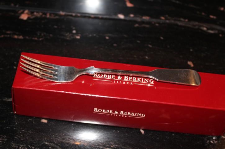 R&B Robbe & Berking Menü Gabel Spaten 800er Sterling Silber 200mm ca. 51g