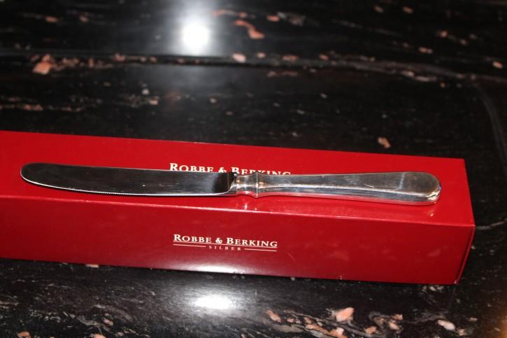 R&B Robbe & Berking Menü Messer Spaten 800er Sterling Silber ca. 220mm ca. 87g