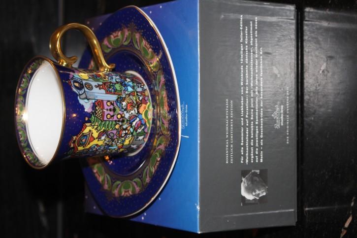 Rosenthal - Björn Wiinblad die Weihnachtstasse 2000 - Kaffee Tasse Neu in OVP