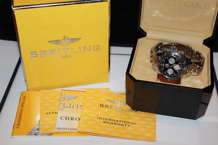 Breitling Crosswind Chronomat Special A44355 in Stahl / Stahl mit OVP und Papieren