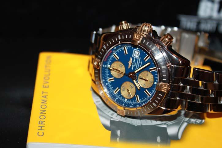 Breitling Windrider Chronomat Evolution B13356 Stahl / Gold Neu in OVP