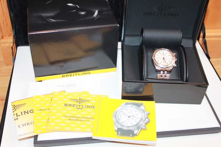 Breitling Windrider Chronomat Evolution A13356 Stahl / Stahl Weiss in OVP mit Papieren - Full Pack