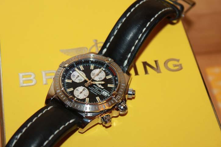 Breitling Windrider Chronomat Evolution A13356 Stahl / Leder in OVP mit allen Papieren
