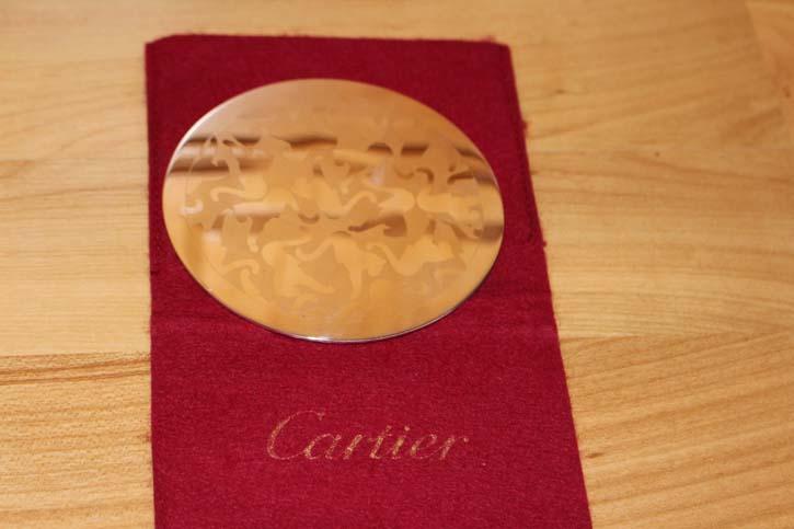 Cartier Panthere 925er Sterling Silber Untersetzer Teller 80 Gramm 9 cm Durchmesser
