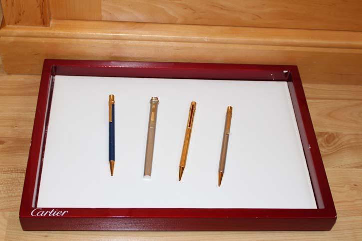 Cartier Edelholz Vorlege Tablett Klavierlack Bezug 36 x 26 x 3 cm für Schreiber