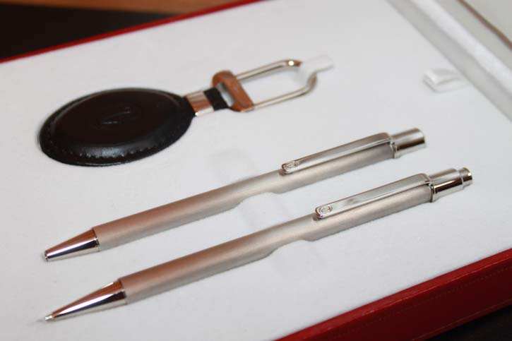 Cartier Must II Bille Set - Kugelschreiber & Bleistift & Key Ring Neu in OVP