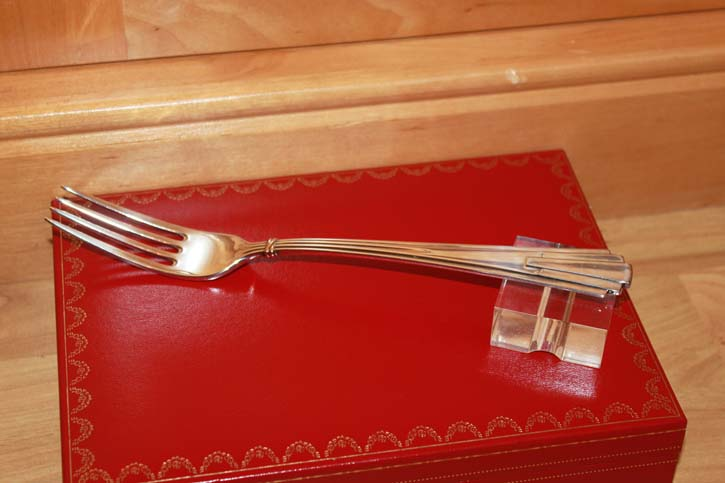 Cartier Trinity große Speise Gabel / Fourche 925er Silber 21cm & 76 Gramm