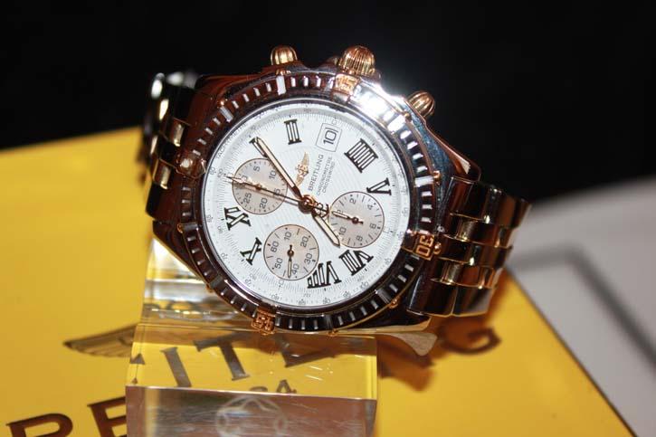 Breitling Crosswind Chronomat B13355-258 in Stahl / Gold mit OVP und Papieren
