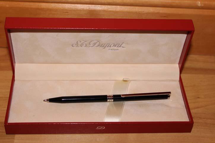 S.T. Dupont Bleistift in Chinalack Schwarz und Platiniert
