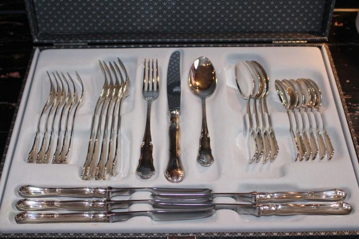 Wilkens Dresdner Barock Suppen Löffel aus 800er Silber ca. 18 cm und 45 Gramm