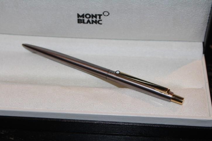 Mont Blanc Slim Line Kugelschreiber VERSION 1 in silbern& golden von Montblanc