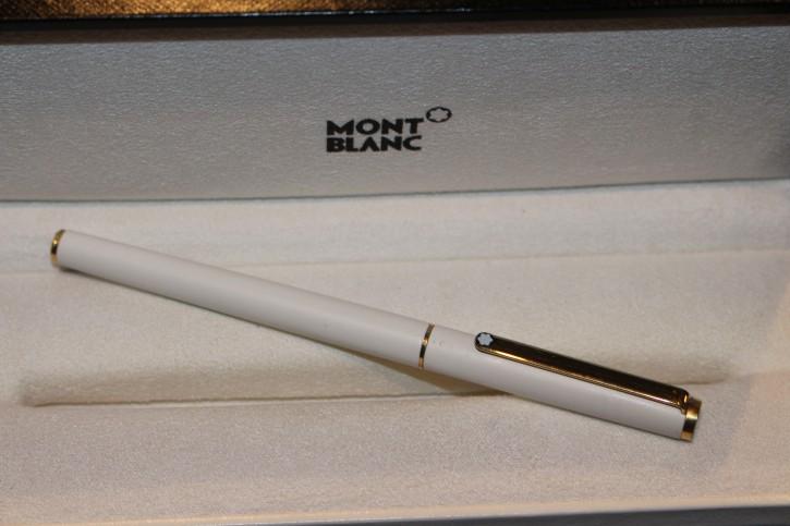 Montblanc Slim Line Füllfederhalter Füller in Weiß & golden