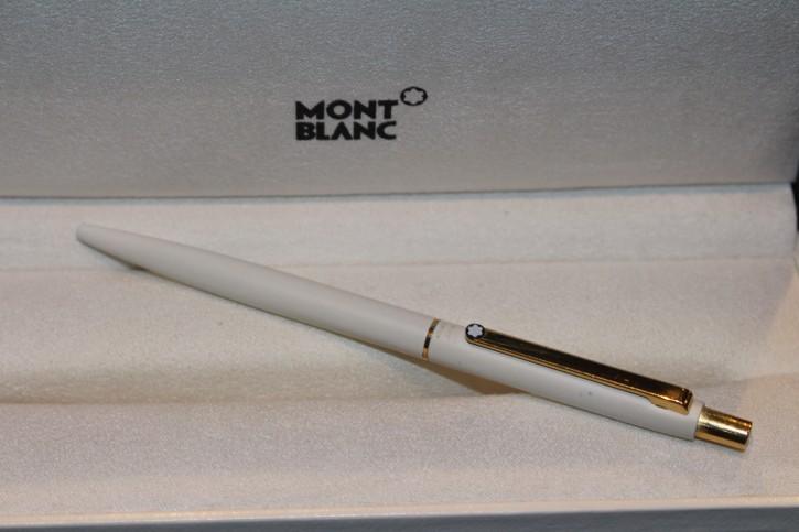 Montblanc Slim Line Kugelschreiber in Weiß & golden