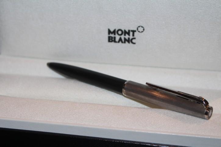 Montblanc N° 285 Hebel Kugelschreiber in silbern & schwarz 70er Jahre