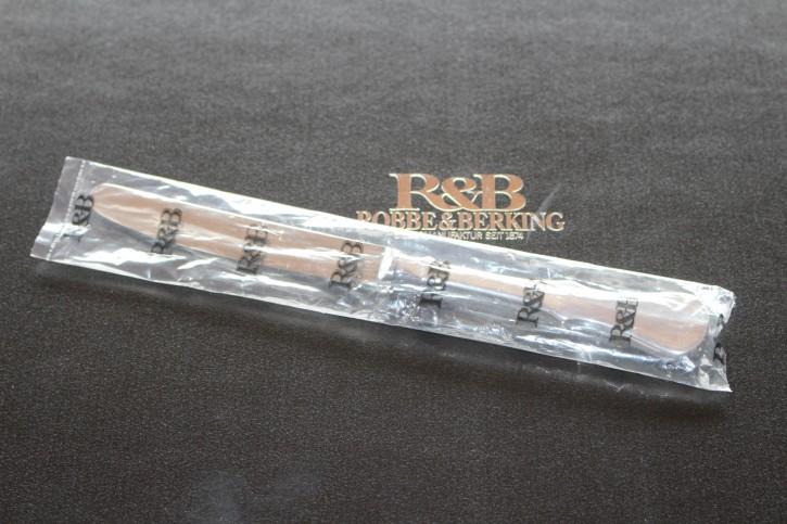 R&B Robbe & Berking Alt Kopenhagen Menü Messer 150er Silber Auflage 215mm Neu OVP