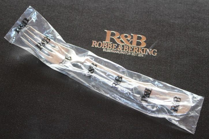 R&B Robbe & Berking Alt Kopenhagen Menü Gabel 150er Silber Auflage 200mm Neu OVP