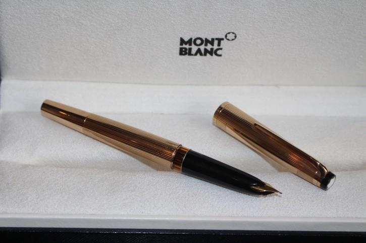 Montblanc Meisterstück N° 92 Kolben Füllfedehlater in 585er / 14 Karat Gold.