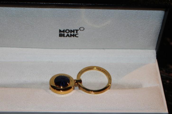 Montblanc Meisterstück Etoile Schlüsselanhänger vergoldet mit Lackintarsie blau
