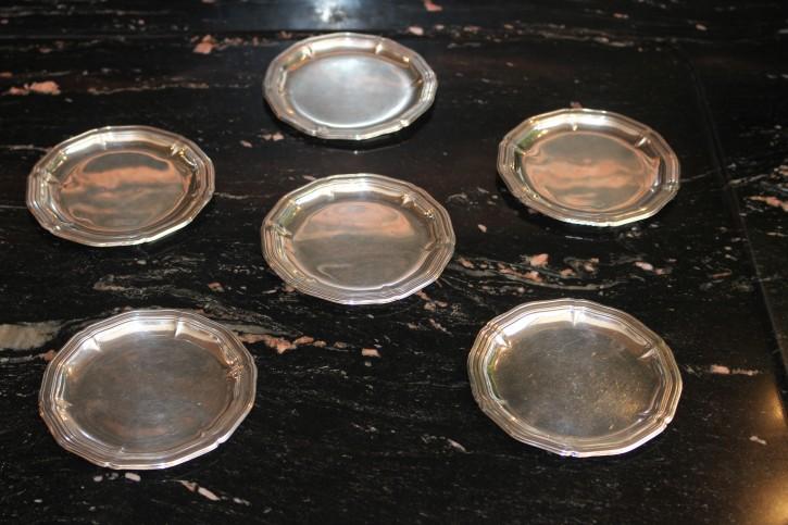 WTB WT. Binder 1 x Untersetzer Spaten 835er Silber Platte Teller 10,5cm & ca. 28g