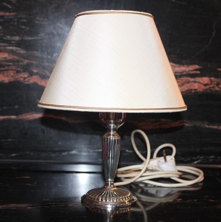 Edle Lampe Tischlampe 925er Sterling Silber Gayer & Kraus Schäbisch Gmünd 30cm