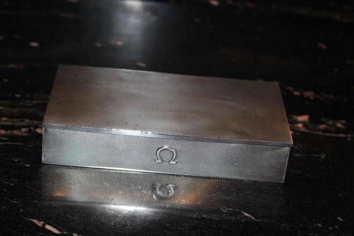 LUXUS Uhren Box OMEGA 925er Sterling Silber 50er Jahre ca. 16 x 9 cm & 261g