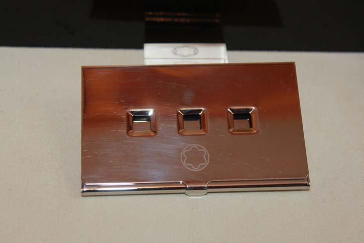 Montblanc *Lifestyle Accessories* Visitenkarten Karten Etui Box in platiniert