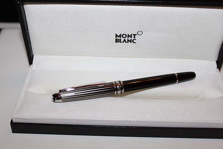 Montblanc Meisterstück Solitaire BLACK & WHITE DOUÉ N° 163 Roller Ball