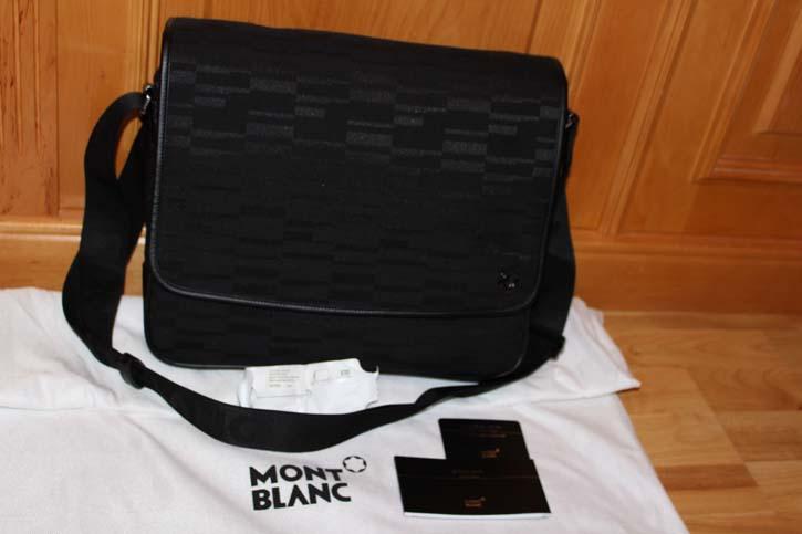 Montblanc 4810 Westide BLACK MYSTERY CANVAS Laptop Tasche 36 x 30 x 8 cm Neu