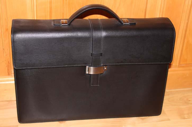 Montblanc 4810 Westside Brief Case / Akten Tasche Leder schwarz 42 x 32 x 10cm