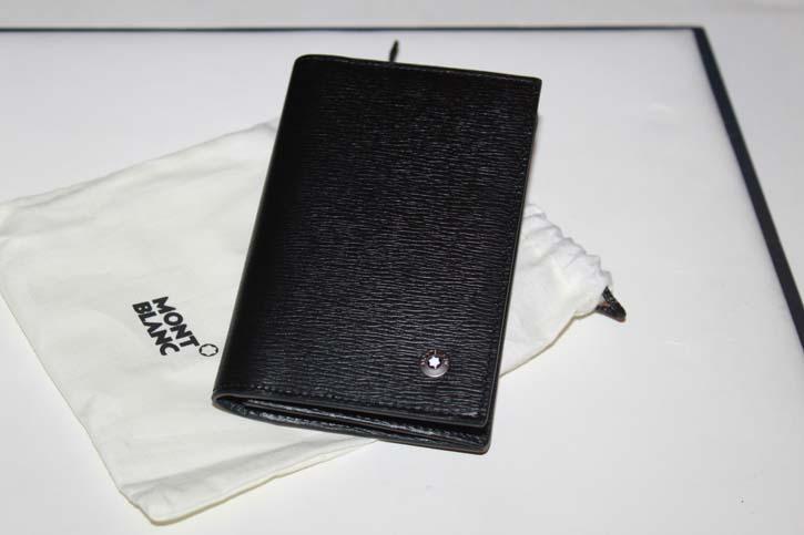 Montblanc 4810 Westside Kreditkarten Etui oder Visitenkarten Mappe aus Leder schwarz Neu