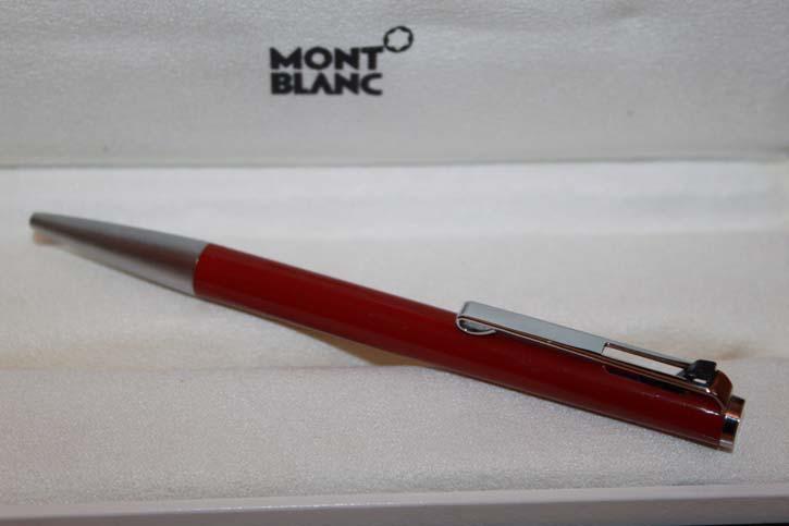 Montblanc 782 Hebel Kugelschreiber Kuli BP in rot und silber 70er