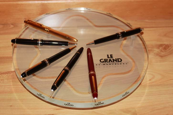 Montblanc Acryl Deco Tablet für 6 Meisterstück Le Grand Stifte ca. 30 x 5cm TOP