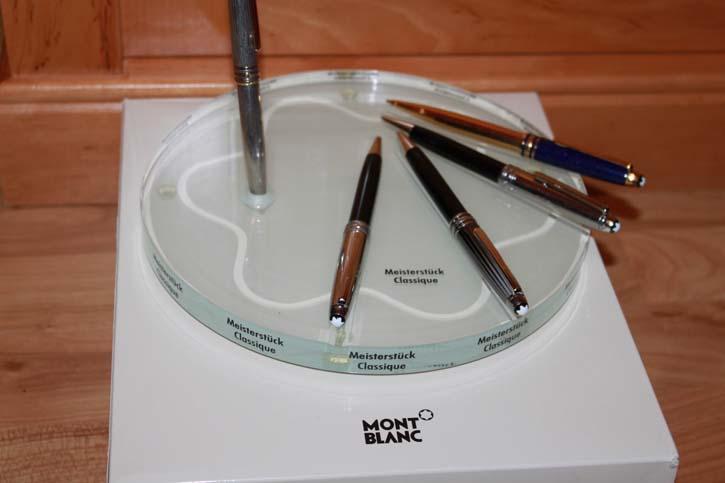 Montblanc Acryl Deco Tablet für 5 Meisterstück Classic Stifte ca. 22 x 2,5cm