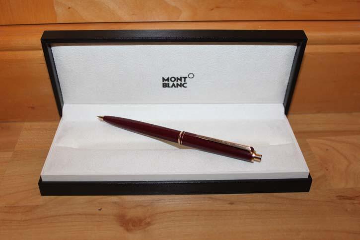 Montblanc Bleistift in Edelharz Bordeaux und Golden aus den 60er Jahren