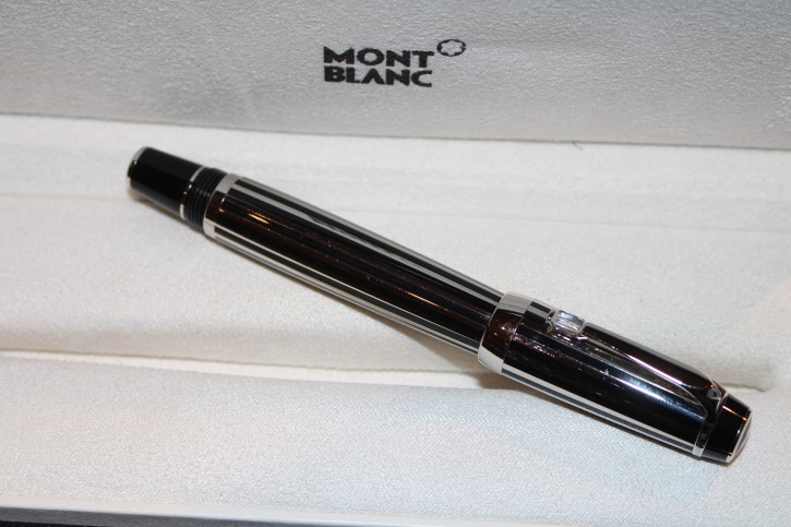 Montblanc Boheme Crystal Platinum Plated Roller Ball / Fine Liner