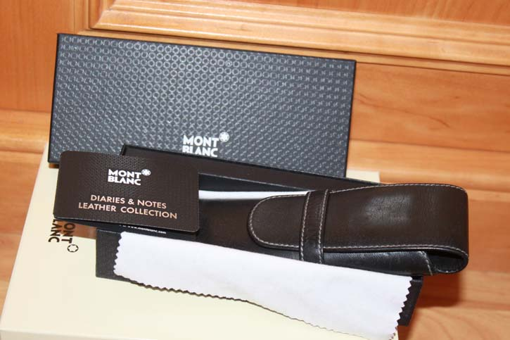 Montblanc Diaries & Notes 2er Lederetui in schwarz, Pen Pouche OVP
