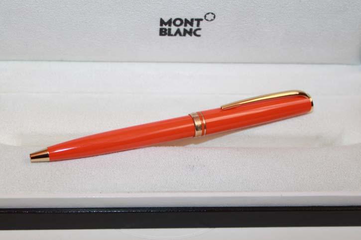 Montblanc Generation Kugelschreiber in ORANGE und Platin - Neuwertig in OVP