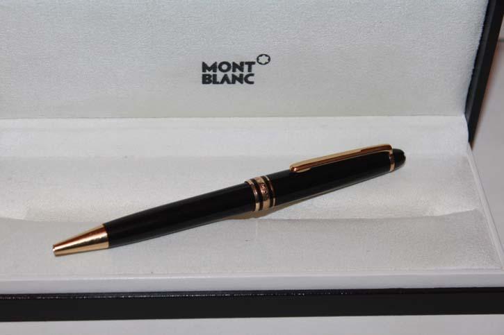 Montblanc Meisterstück N° 164 Kugelschreiber Schwarz und Gold