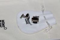 Montblanc Meisterstück Solitaire Manschettenknöpfe / Cuff Links aus 925er Silber und Onyx Intarsien NEU