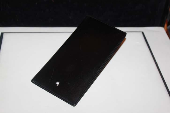 Montblanc Meisterstück Reise Brieftasche / 6cc Wallet aus Leder in schwarz