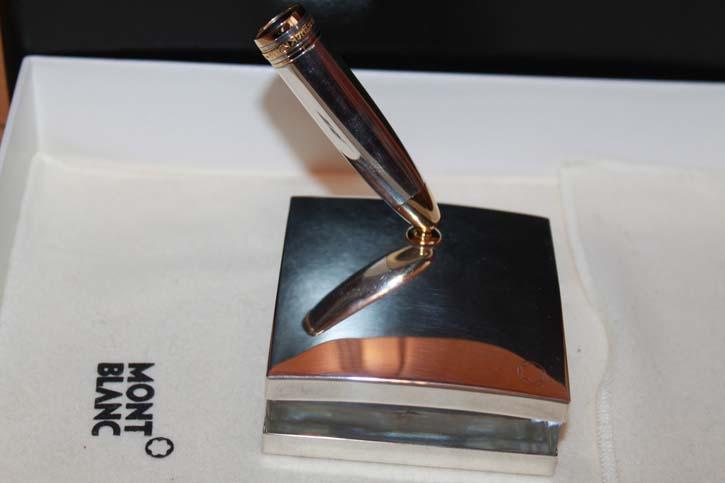 Montblanc Meisterstück 925er Sterling Silber Desk Le Grand N° 146er Pen Stand