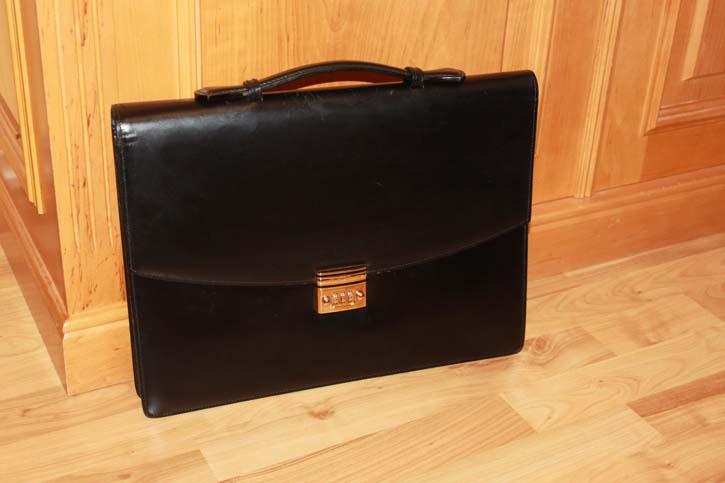 Montblanc Meisterstück Brief Case / Akten Tasche Leder schwarz 38 x 28 x 5cm