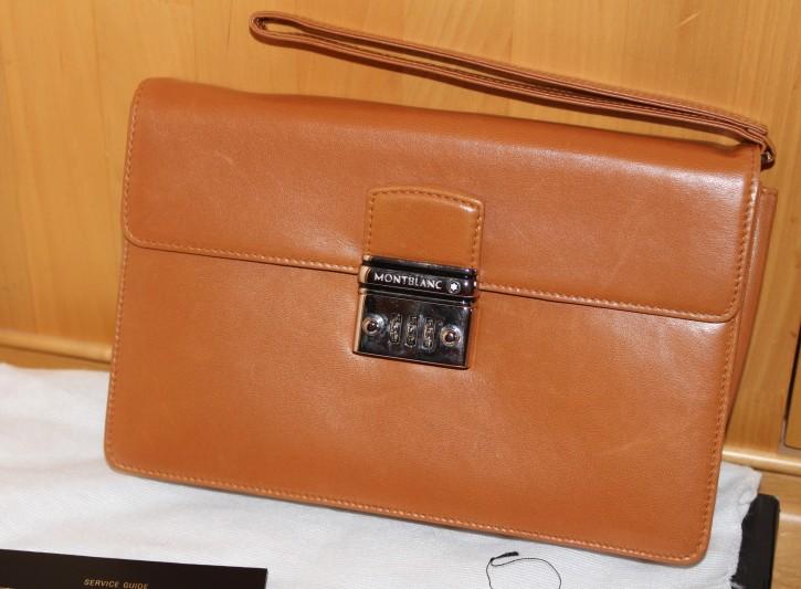 Montblanc Meisterstück Cashmere Lambskin Leather Herren Tasche in OVP & Papieren