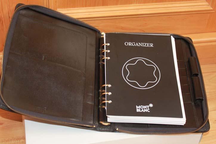 Montblanc Meisterstück DIN a´ 5 Organizer / Mappe Leder 25 x 20cm
