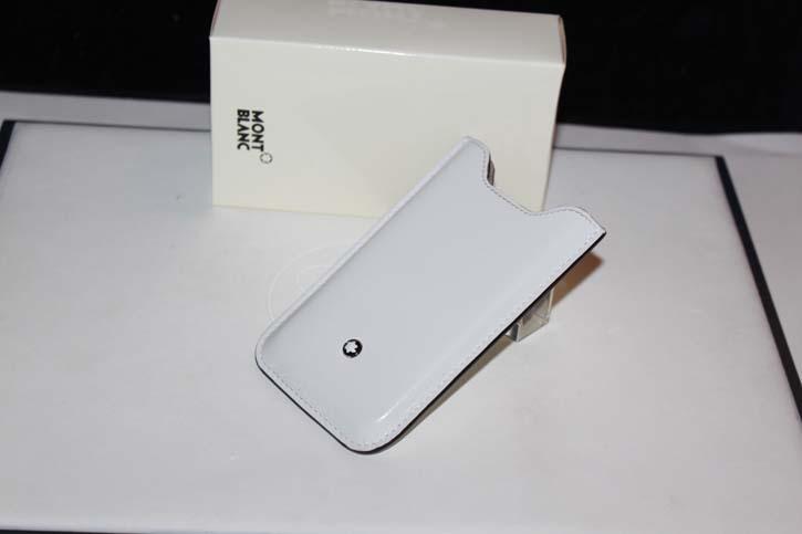 Montblanc Meisterstück Smartphone oder iPhone 4 / 4S Hülle in Leder weiss