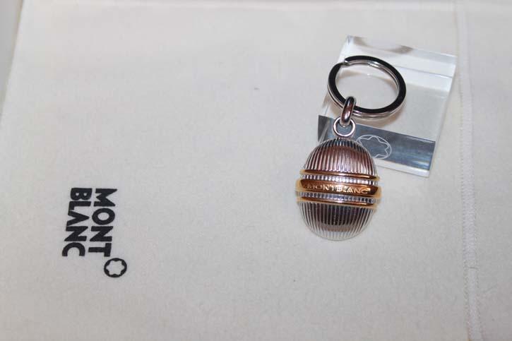 Montblanc Meisterstück Solitaire Schlüsselanhänger / Key Rin in Faden Guilloche Muster - RAR